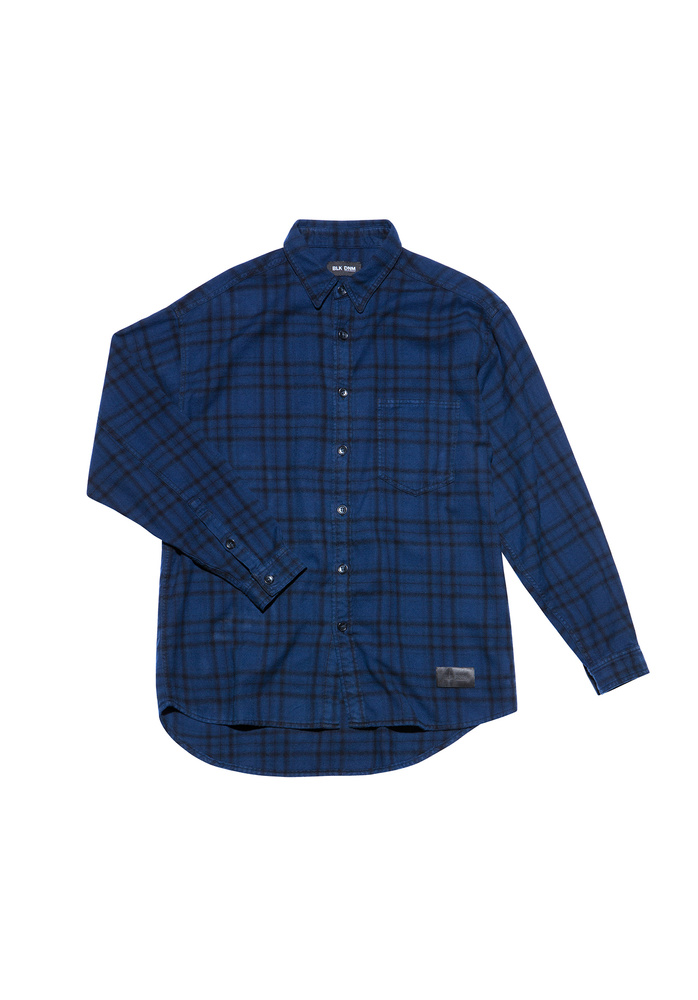 BLK DNM JEANS SHIRT 19 OVERDYED FLANELL - OVERDYED FLANELL