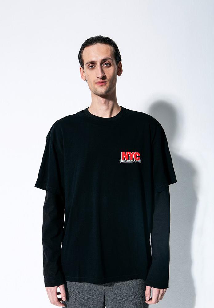 BLK DNM T-SHIRT 20  - BLACK NYC BACK/FRONT PRINT