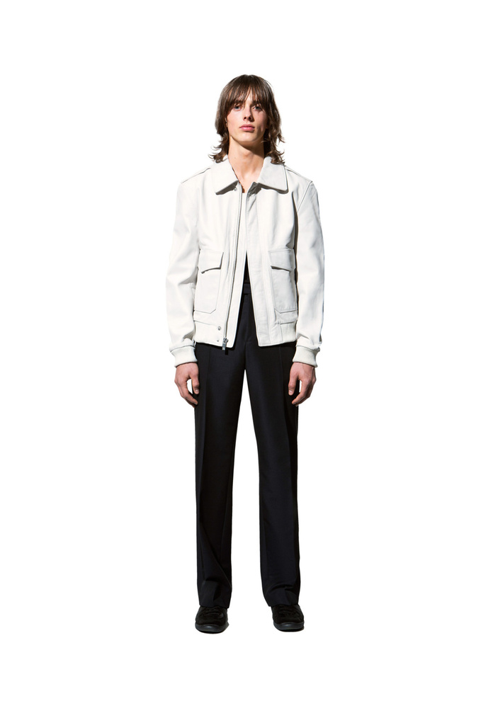 BLK DNM LEATHER JACKET 90 WHITE - WHITE