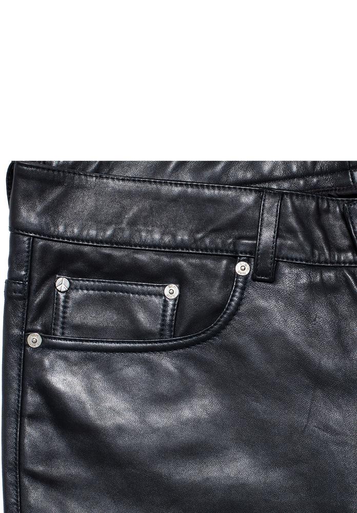 BLK DNM LEATHER PANT 25 BLACK - BLACK