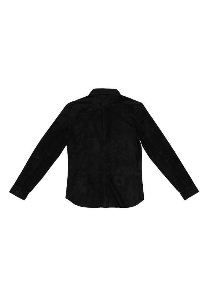 BLK DNM LEATHER SHIRT 5 BLACK - BLACK