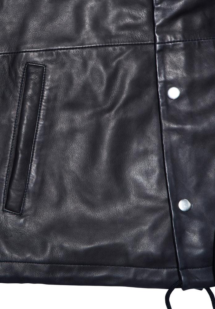 BLK DNM LEATHER JACKET 55 BLACK - BLACK