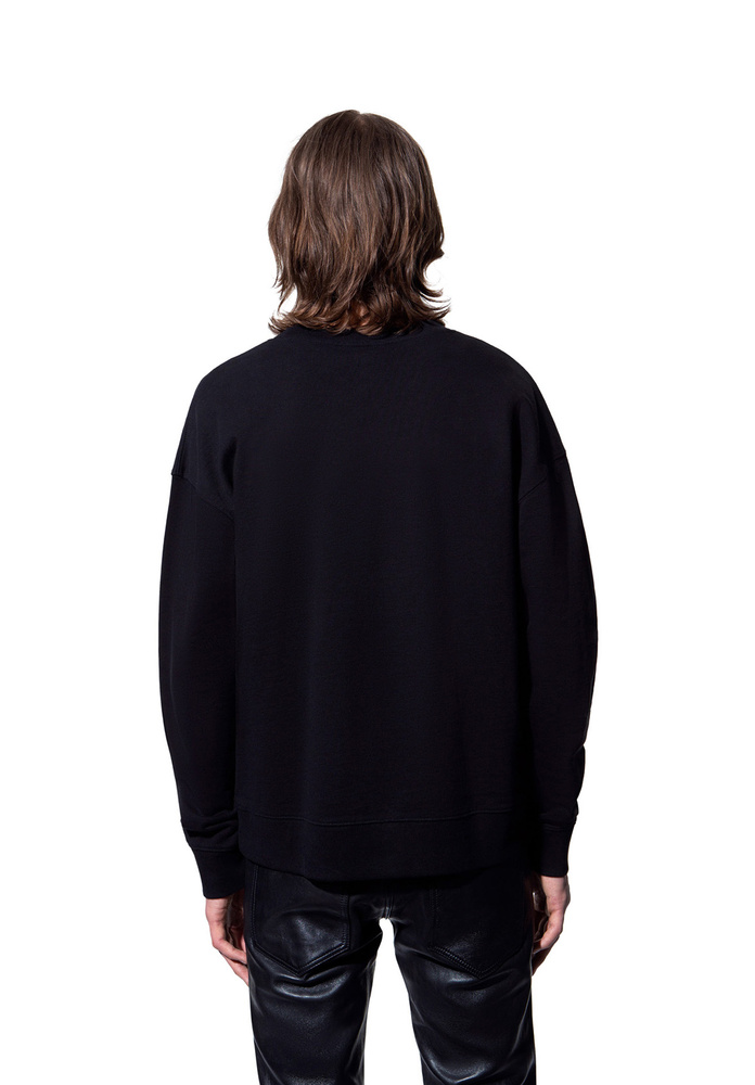 BLK DNM SWEAT SHIRT 55 BLACK - BLACK