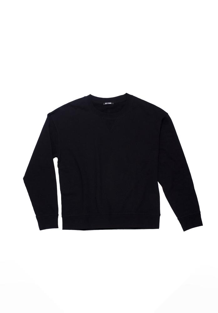 BLK DNM SWEAT SHIRT 55 BLACK / PRINT - BLACK / PRINT