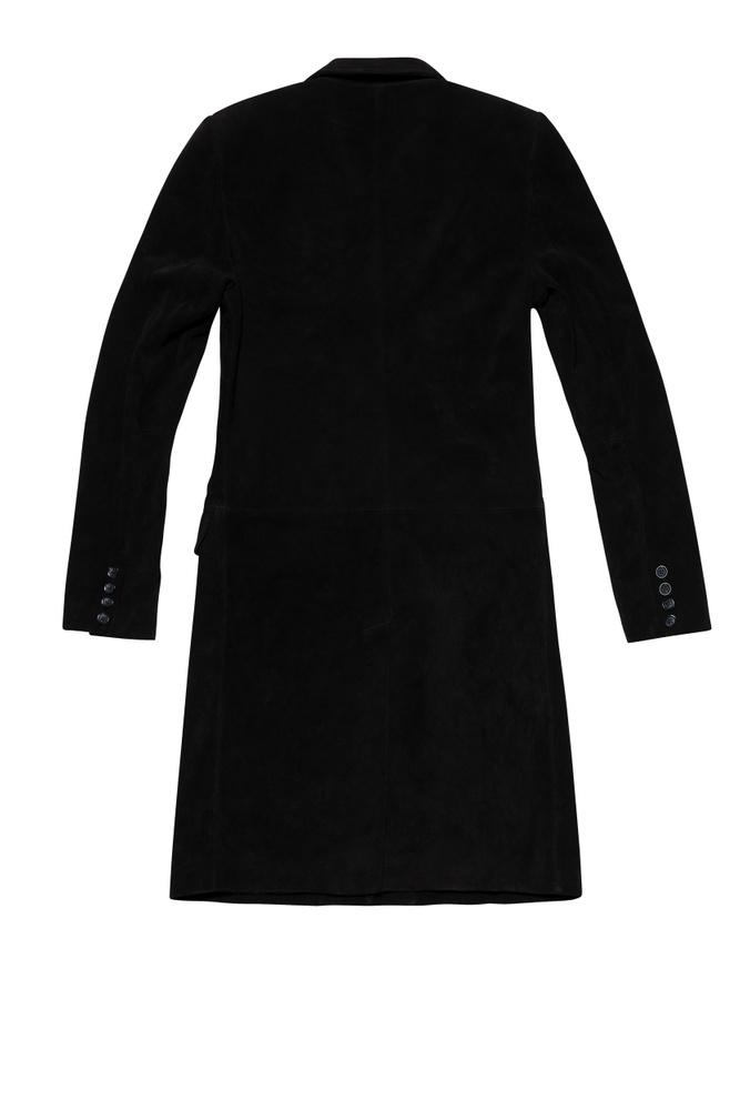BLK DNM LEATHER COAT 72 BLACK - BLACK